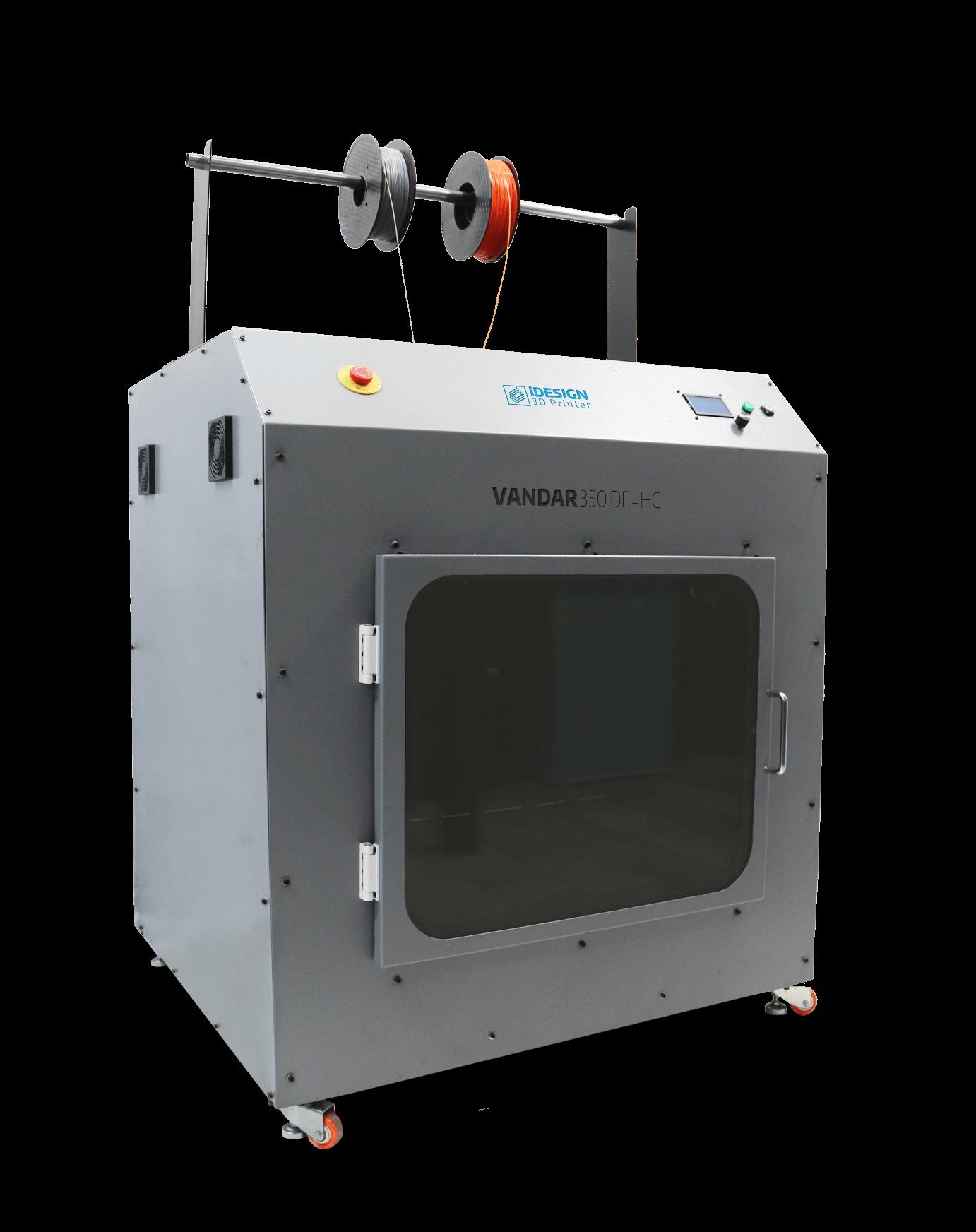 پرینتر سه بعدی محفظه گرم دو نازل – وندار ۳۵۰